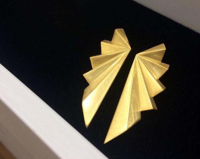 Large Folds Earrings