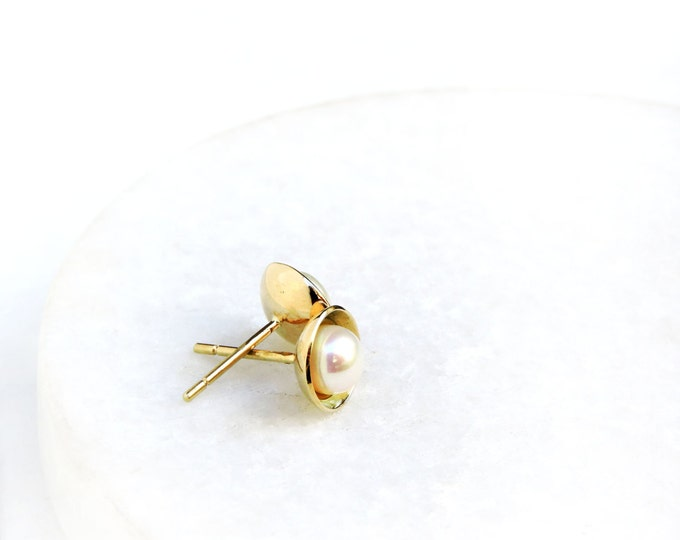 Pearly Earrings | 14k Gold