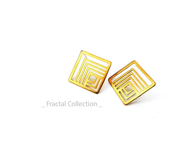 Τiny Fractal Earrings
