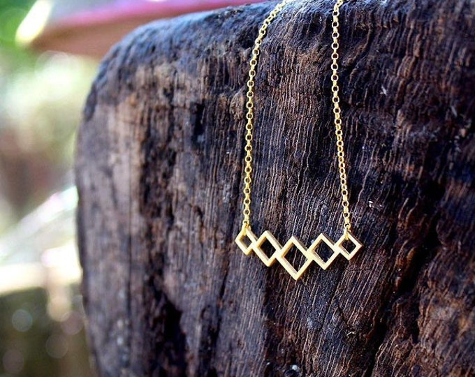 Tiny Beehives Necklace