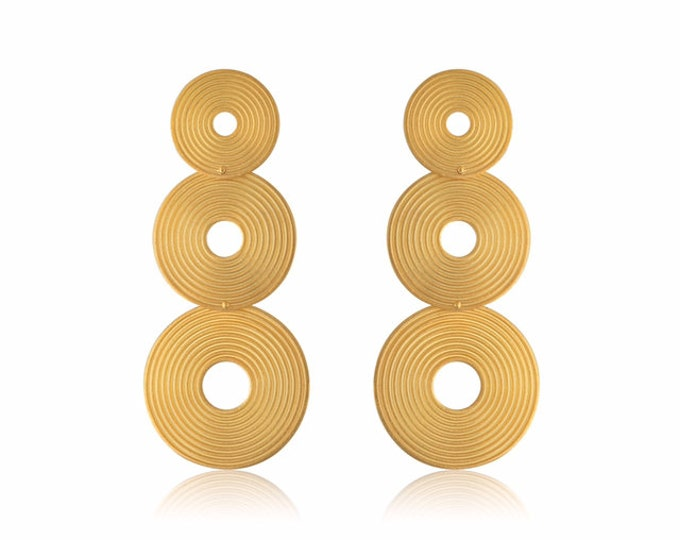 Triple Spiral Earrings