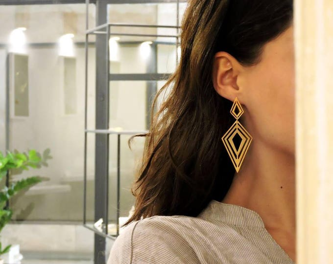 Fractal Rhombus Earrings