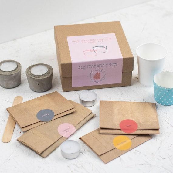 Concrete Craft Kit Craft Kit For Adults Diy T Light Holder Etsy