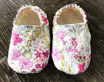 Frankie Floral Soft Baby Shoes