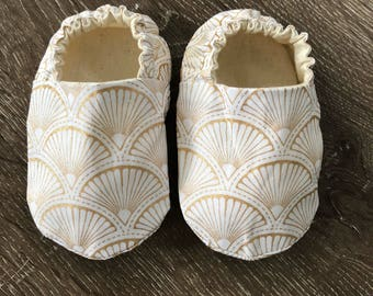 Gatsby Gold Baby Shoes