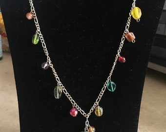 Beaded Spring Colors Necklace