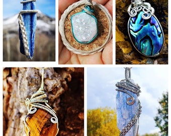 Have A Custom Pendant Made, Wire Wrapped Crystal Pendant, Unique Jewelry, Custom Wire Wrap Pendant, Unique Gift, Twin Flame Jewelry, Gifts,