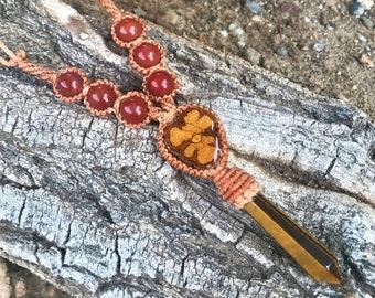 Ayahuasca Jewelry, Tigers Eye Jewelry, Ayahuasca Jewelry, Red Jasper, Handmade Crystal Jewelry, Crystal Jewelry, Twin Flame Crystal,