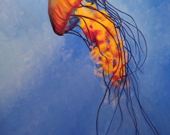 Jellyfish Oil Painting