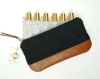 Essential Oil storage, roller bottle bag, roller bottle case, essential oil case, essential oil travel, roller bottle clutch, essential oils