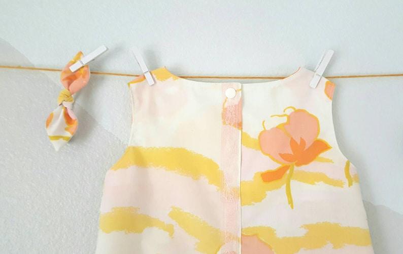 girls unique dress cotton summer dress sleeveless tunic Shift dress girls vintage dress Easter dress Birthday dress sundress