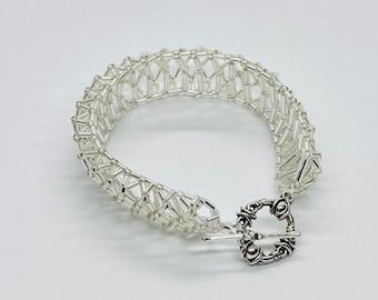 Beaded Bracelet, 3D Bracelet, Bridal Jewelry, Bridal Accessories, Bracelet, Bride Made