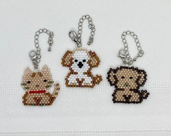 Kawaii Series, Mask Charm, Bag Charm, Mobile Phone Charm, Dog, Cat, Pendant Head, Beaded Mask Charm, Autism, Gift