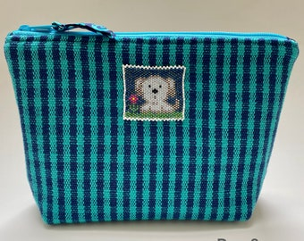 Weaving Bag, Bag, Pouch, Pouch Bag, Pouches with Zipper, Beaded Animal, Dog, Rabbit, Crab, Cow, Elephant, Gift