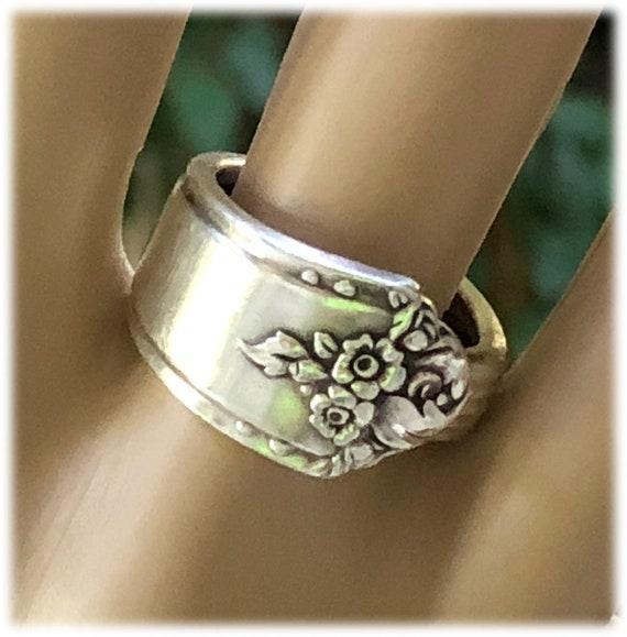 Romantic Jewelry Vintage Gift Oneida Wrap Spoon Ring Sz 6 Vintage Silver Spoon Ring