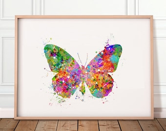 Butterfly Watercolor Print - Butterfly Watercolor Art - Butterfly Poster - Room Decor - Housewarming Gift