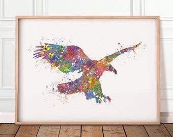 Eagle Watercolour Art Print  - Eagle Watercolour Poster - Eagle Art Print - Eagle Poster - Room Wall Decor