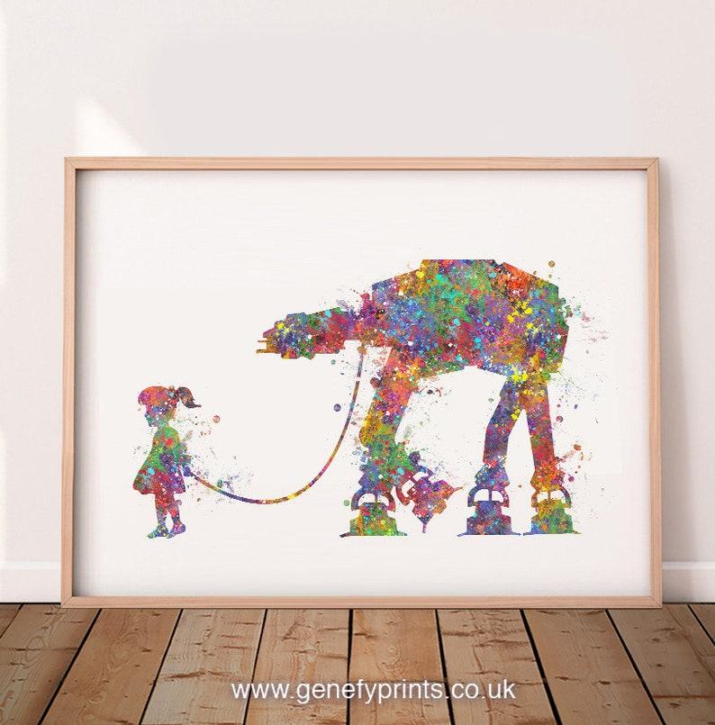 Little Girl Watercolour Art Print  Nursery Wall Art  Gift image 0
