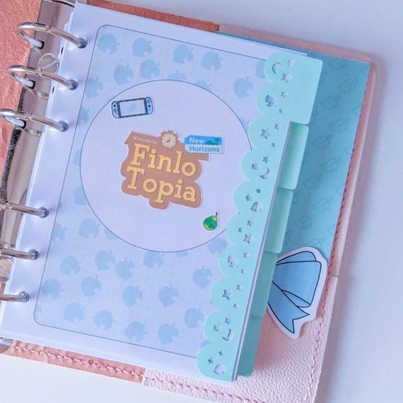 Planner Decal Planner Dividers PREMADE Animal Crossing Blank Tab Top Planner Tab Dividers