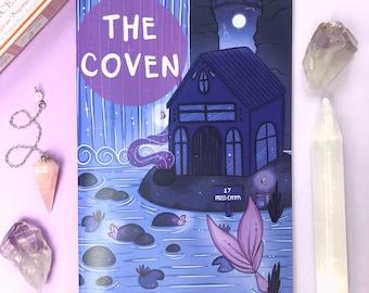 witches inktober zine - 'the coven' - art magazine - art zine - illustration zine - witchy zine - cute zine - cute art - mature