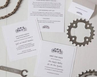 Tandem Bicycle Invitation