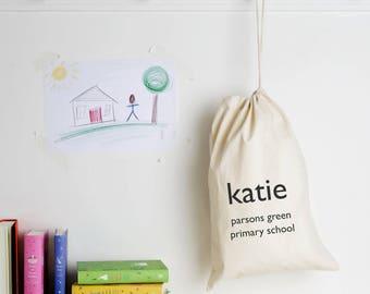Personalised School Gym Kit Bag