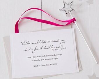 Princess Fairy Wand Invitations