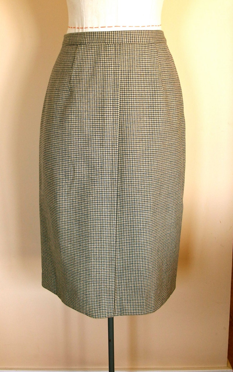 21199d2a0 1950s Wool Houndstooth Pencil Skirt | Etsy