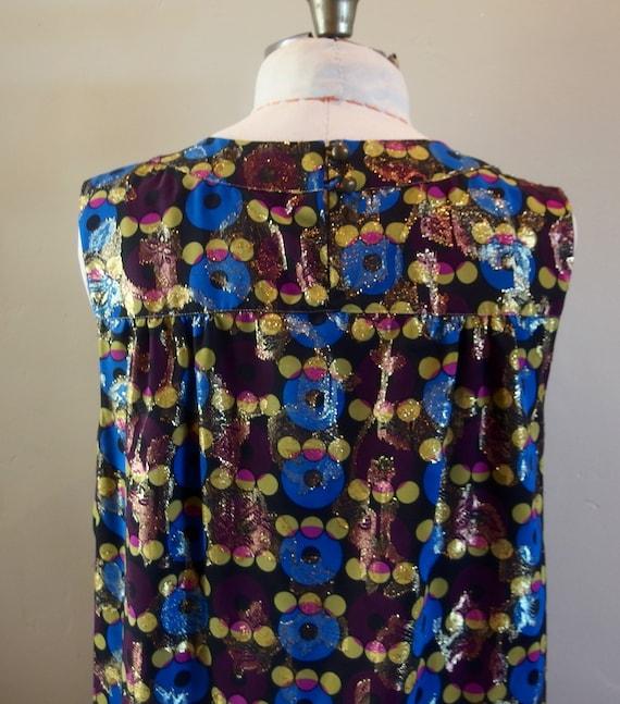 Vintage Anna Sui Designer Cocktail Dress Shift - image 5