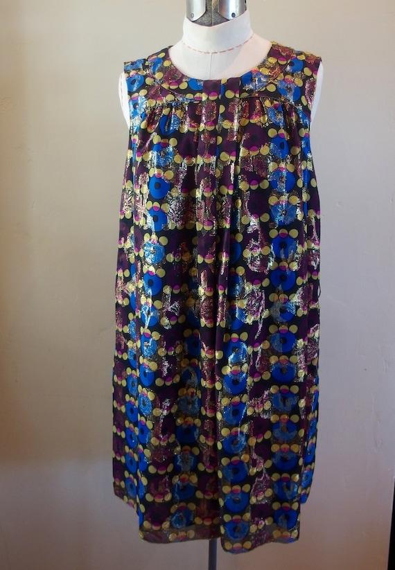 Vintage Anna Sui Designer Cocktail Dress Shift