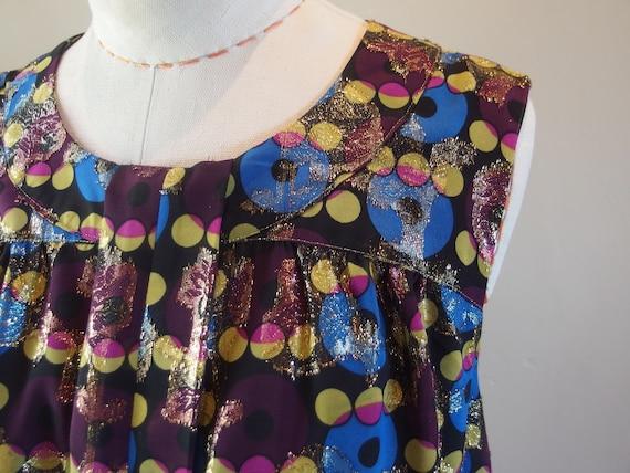 Vintage Anna Sui Designer Cocktail Dress Shift - image 7