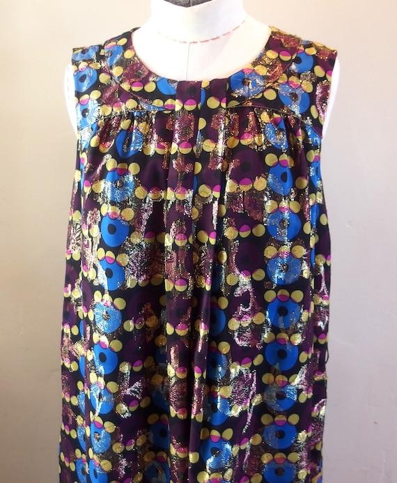 Vintage Anna Sui Designer Cocktail Dress Shift - image 2