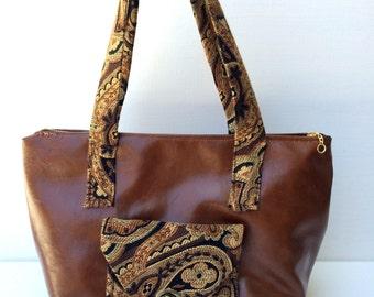 Affordable leather-look handbag - casual purse