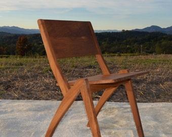 Mid Century Modern Inspired Teak Indoor Outdoor Chair