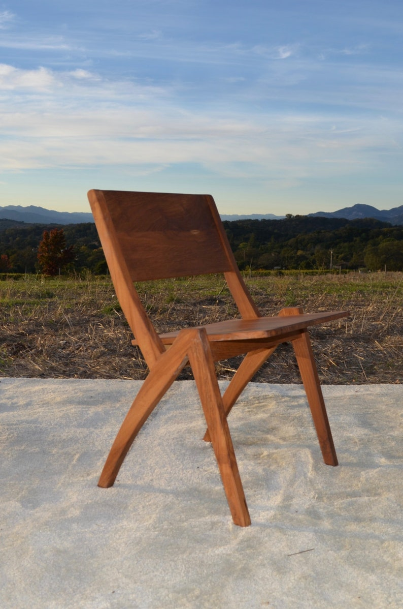 Mid Century Modern Inspired Teak Indoor Outdoor Chair Etsy