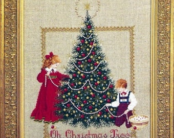 Oh Christmas Tree Counted Cross Stitch Pattern