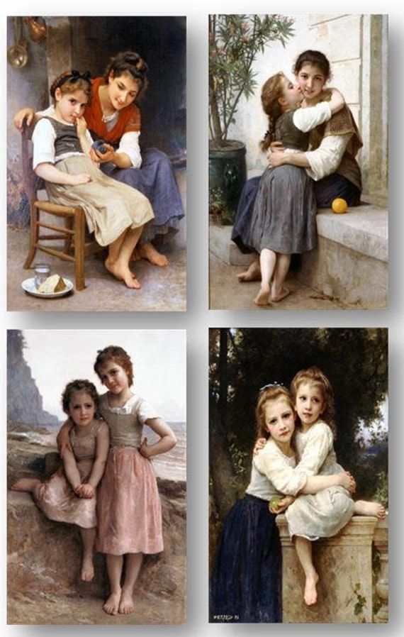 William Bouguereau French Realist Classical Two SistersArt