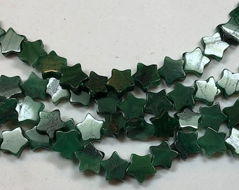 Listing 1 see other Genuine Gaspeite Nugget Beads 12 beads Very rare beads from Canada 16-20mm in size naturally apple green in color