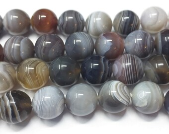 Gemstone Semi Precious Fancy Agate Smooth Round Beads 12 Inch Strand 11.7mm To 13.7mm Fancy Agate Beads Multi Color Agate
