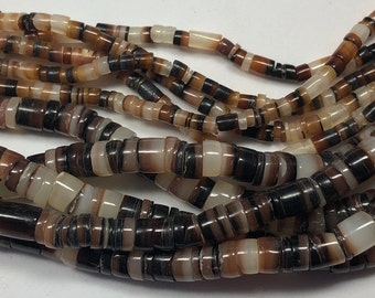 Beads Tiger Brown Lip Shell Assorted Rings 30-50mm