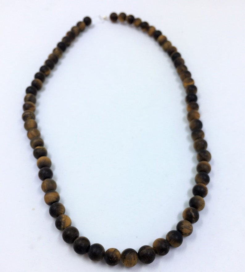 about 64 beads 6mm round beads on 15 inch strand Full strand of AAA Grade beads Matte Brown Tiger Eye Gemstone Beads Golden Tigers Eye.