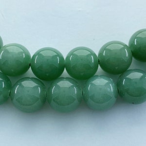 Pale Green Jade. Full 15 strand of AAAAA grade faceted beads 8mm Faceted Rondelle Green Aventurine Gemstone Beads