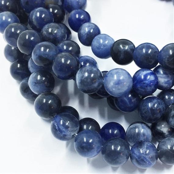 4mm 6mm 8mm 10mm Gemstone Round Beads blue Grade A Natural Sodalite Jasper