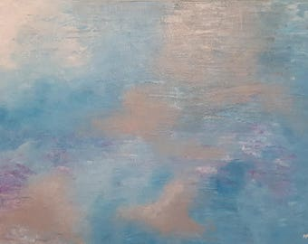 "Abstract art painting ""Misted Morning"""