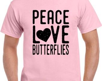 Peace Love Butterflies T Shirt