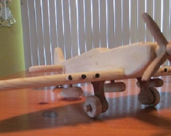 Hand-crafted WWII British Spitfire Fighter Aircraft