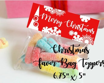 christmas favor bag toppers christmas treat bag toppers christmas bag toppers merry christmas candy bags christmas candy bag toppers xmas - Christmas Candy Bags