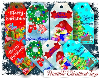 Christmas Tags Printable Christmas Tags Holiday Tags Printable Christmas Tags Christmas tag Holiday gift tags Christmas Printable Christmas