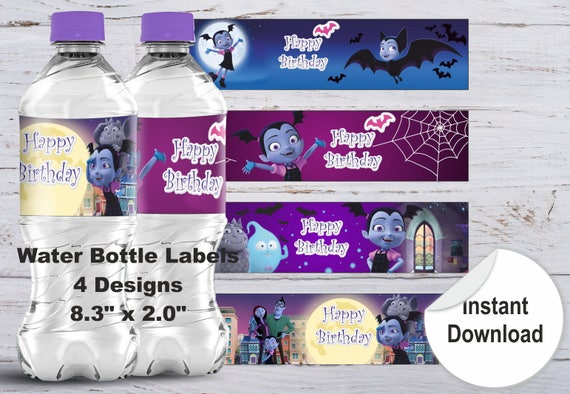 picture about Free Printable Water Bottle Labels for Birthday named Printable H2o Bottle Label Halloween Bottle Label Joyful Birthday H2o Bottle Label Birthday Stickers Bottle Labels Drinking water Bottle Stickers