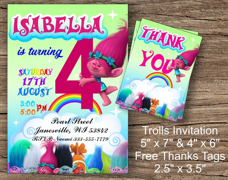 photograph regarding Trolls Printable Invitations named Trolls Invitation, Trolls Birthday Invitation, Trolls Poppy Birthday Invitation, Trolls Printable Invites, Trolls, Trolls Invites